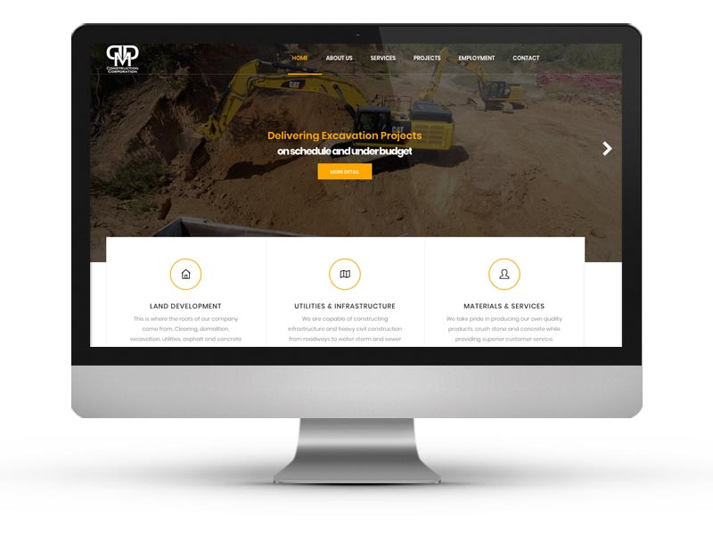 DDM Construction Website Project
