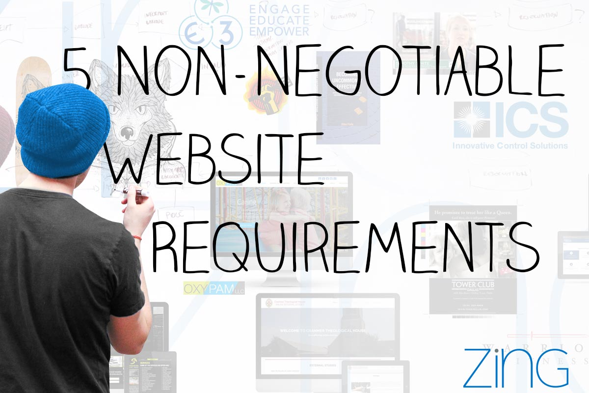 Five Non-Negotiable Requirements of Small Business Websites